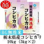 お米 BG無洗米 10kg(5kg×2) 栃木県産コシヒカリ 令和元年産