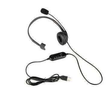 PC用ヘッドセット USB ヘッドホン マイク付き有線 片耳 ボリューム調整 高音質 軽量 Windows 10/8/7/2000/XP/Vista Mac OS互換 コールセンター/オフィス/会議通話/ボイスチャット/Skype/facetimeなどに適用