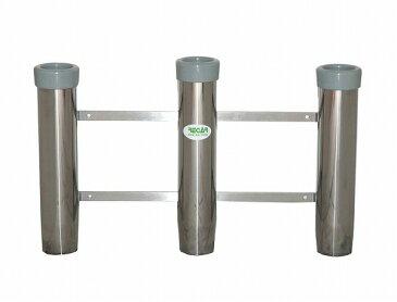 リガー ステンレス製、軽量3連ロッドホルダー、内径Ф39[10765]