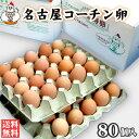 【送料無料】名古屋コーチン卵80個入(破損保証8個を含む)