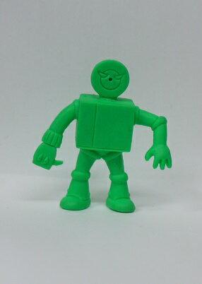 キン消し(キンケシ) 超人 プレイヤーマン A  緑 キン肉マン消しゴム ゆでたまご【中古】