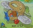 キンダーサプライズ Kinder Surprise k01n57 植物の車とリス