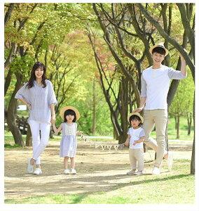 リンクコーデ 家族 家族旅行 親子リンク おそろい 家族写真