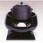 茶道具 風炉 風炉 真塗道安(面取り)(釜は別) ※この商品は取り寄せ品になります。