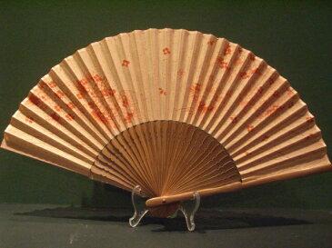 草木染め生地ハンカチ扇子/アジサイ柄/7寸女物サイズ/和柄 京みやげ
