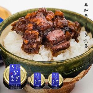 うなぎ生姜 3個セット 高知県産 うなぎ と 黄金生姜 を使用したご飯によく合う逸品!お茶漬けもおすすめ! しょうが 鰻 蒲焼のタレ 四万十 おつまみ SH SS