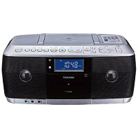 ■新品■【オーディオ】TOSHIBACDラジオカセットレコーダーシルバーTY-CDK8【970935】