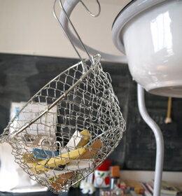 ワイヤー メッシュ おしゃれ バスケット キッチン ランドリー ナチュラル ステンレス