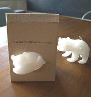 木彫り熊キャンドル【オリジナル】