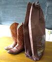 靴ブーツ向け・保管袋不織布袋(収納袋 不織布 巾着袋 不織布袋 靴 収納グッズ シューズ 靴袋 くつ袋 シューズ袋 シューズバッグ シュー…