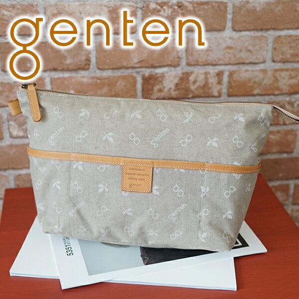 選べるかわいいノベルティ付 gentenゲンテンポーチクロスパンチングインナースペースポーチ(バッグインバッグ)40882レデ