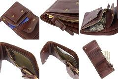 CORBO.(コルボ)-SLATE-スレートシリーズ小銭入れ付き二つ折り財布8LC-9365[送料無料]イタリアンレザー(本革)のウォレットです。