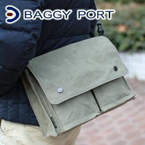 BAGGYPORT バギーポート ロウビキパラフィン ショルダーバッグ (小)ACR-458メ…