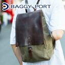 BAGGY PORT バギーポート ウォッシュ加工6号帆布×オイルレザー リュック TEPP-209 (バックパック)(革のお手入れ方法本付)メンズ レディース 男女兼用 ユニセックス バッグ リュックサック デイバッグ 大容量 大人 ポイント10倍 baggyport 送料無料