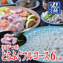 白子付きとらふぐ 刺身&鍋フルコースセット6人前【山口県産仙...