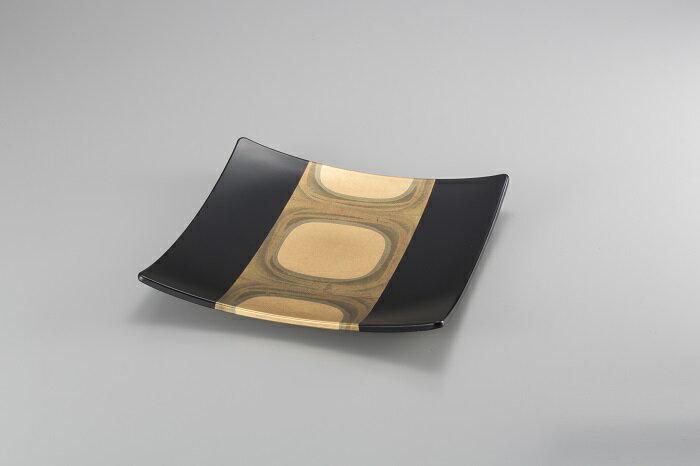 古代箔 スクエアプレート(黒L)