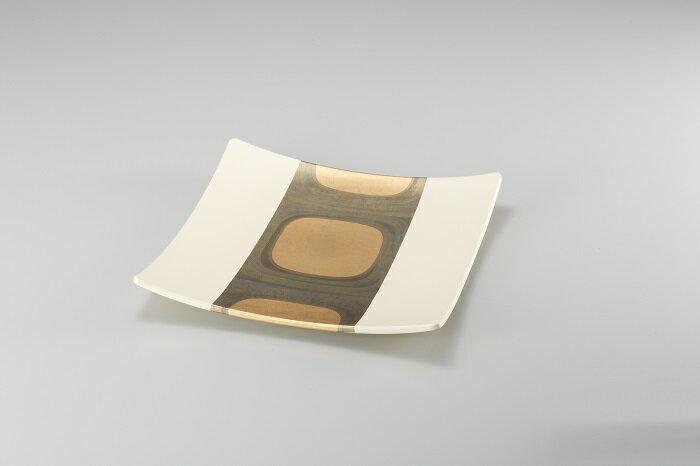 古代箔 スクエアプレート(白L)