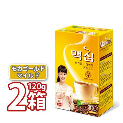 SNSで話題中のミックスコーヒーマキシムMaximモカゴールドミックスコーヒー12gx100本入り(2box) 韓国珈琲韓国Ma