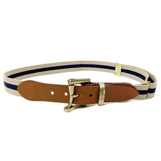 Quick Release Surcingle Belt 7-0276: Beige / Navy