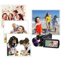 「クーポン利用で28310円!!!」【一年保証期間+送料無料】ビデオカメラ4KウルトラHD48MP(YouTube30XデジタルズームIRナイトビジョンビデオカメラ、ポータブルハンドヘルドスタビライザー、360°ワイヤレスリモコン64GSDカード付き)