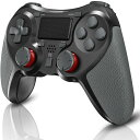 ps4 コントローラー ワイヤレス  PS4 Pro/Slim PC対応 HD振動 連射 ゲームパッド ゲームコントローラー USB Bluetooth 接続 イヤホンジャック スピーカー内蔵 高耐久ボタン ブラック