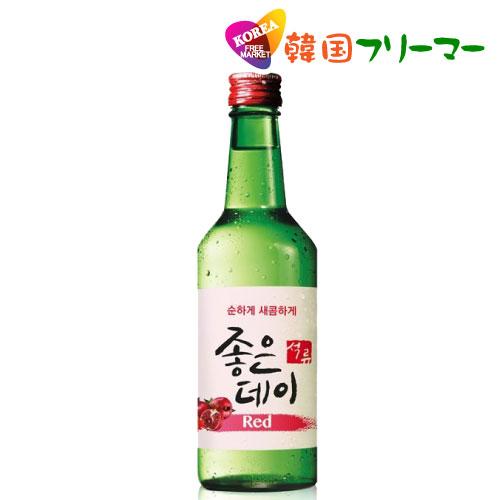 ■『ムハク』ジョウンデーRed(ざくろ味)|果実焼酎(360ml・アルコール13.5%) 1本 ■韓国食品/韓国食材/お酒/焼酎