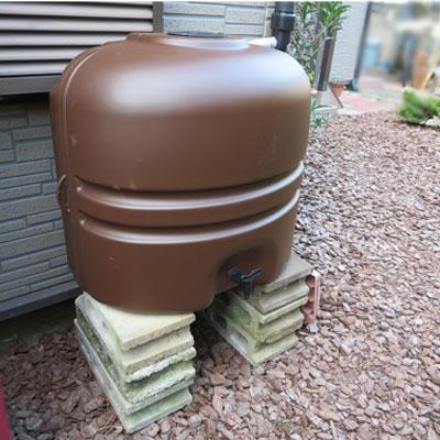 雨水タンク【コダマ樹脂ホームダム110L(ブラウン・角ドイ)】雨水貯留タンク雨水貯留槽家庭用雨水タンクホームダム