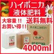 ハイポニカ 【ハイポニカ液体肥料 4000ml(4L)セット(A液・B液/各4000ml)】 液肥