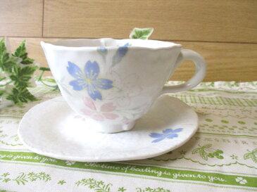 【店長おすすめ!!】白い器にお花模様コーヒーカップ「訳あり」『アウトレット込み』