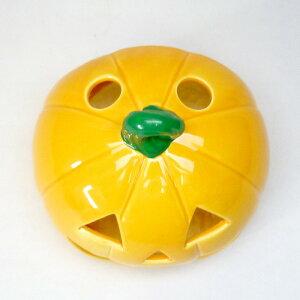 蚊遣器おばけカボチャ蚊遣器[13x15x14.3cm]陶器【納涼インテリアかわいい涼しい夏】