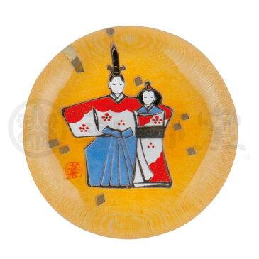 雛人形 ガラス箸置き(立雛・梅) [1.5 x 巾4.0cm]   ひな人形 雛祭 ひな祭り 陶器 置き物 お雛様 節句 おひな様 お内裏様 かわいい おしゃれ 玄関飾り プレゼント ギフト 出産祝い 結婚祝い 縁起物 引き出物