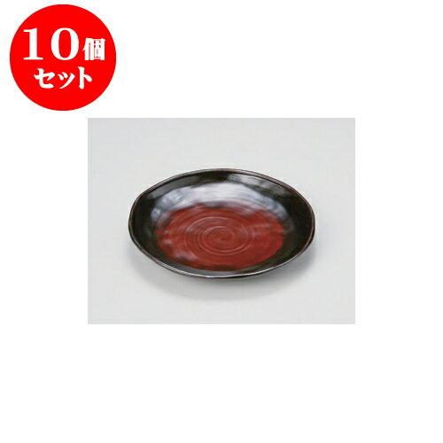 10個セット 盛皿 日の出錆 蕎麦皿 [24.5 x 22.6 x 3.5cm]A・硬