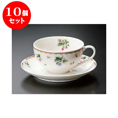10個セット 碗皿 フルーツハーモニーC/S [15 x 6.5cm 250cc] 【洋食器 レストラン ホテル 飲食店 業務用】