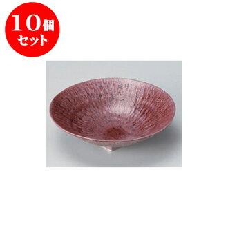 供跟從10個安排向的紫色和灰塵(6.0寸深)圓盤子[17 x 4.5cm]酒家旅館日式餐具飲食店業務使用