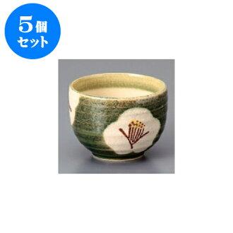 5 件套餐碗 Oribe 梅花劑量 ippuku 碗 10 x 7.3 釐米 340 cc 污垢東西客棧餐廳的食物和飲料店日本商業