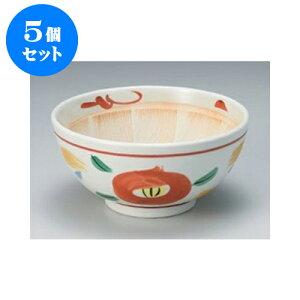 5個セットすり鉢山茶花6.0スリ鉢[18.5x9cm]旅館料亭和食器飲食店業務用