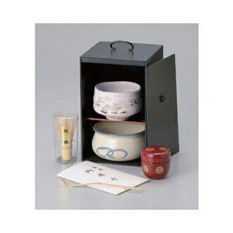 茶黑繪茶具 (黑漆) [16 x 16 x 25.2 釐米,茶道抹茶茶道用具