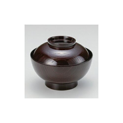 煮物椀 溜内黒 4.5寸木目煮物椀 [13.4 x 9.6cm]  耐熱 TA・耐熱