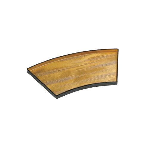 10個セット 盛皿 金瑞雲 扇面盛器 [29.2 x 16.7 x 1.9cm]  耐熱 木合・耐熱