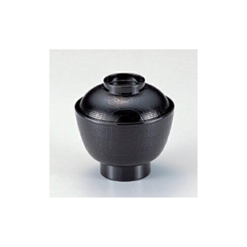 小吸碗 [A]積重木目椀 黒 [10.3 x 10.2cm]