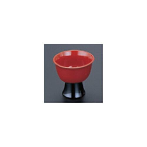 10個セット 盛器 [M](小)高台ワイン珍味入 朱 [7.3 x 6.5cm]