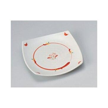 取皿 赤絵丸紋4.5正角皿 [13.8 x 13.8 x 2cm] | 小皿 取り皿 人気 おすすめ 食器 業務用 飲食店 カフェ うつわ 器 おしゃれ かわいい ギフト プレゼント 引き出物 誕生日 贈り物 贈答品