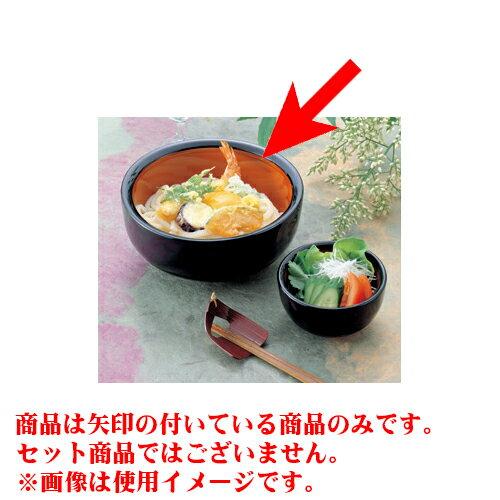 10個セット 汁椀・丼 [A]五平鉢黒内朱天黒6寸 [18 x 8cm 1,000cc]