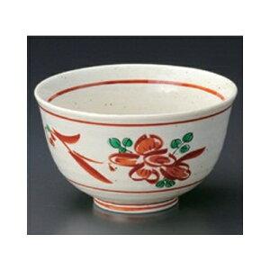5個セット多用碗大手描き赤絵花4.2反小丼[13.3x7.9cm]料亭旅館和食器飲食店業務用