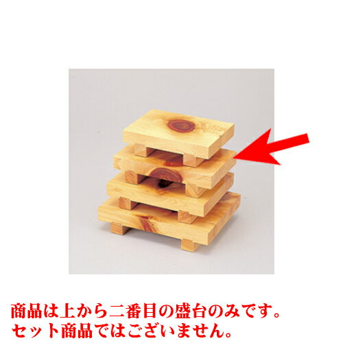 10個セット 民芸雑器 檜・紅節盛台<HB-58> [24 x 15 x 5.5cm]