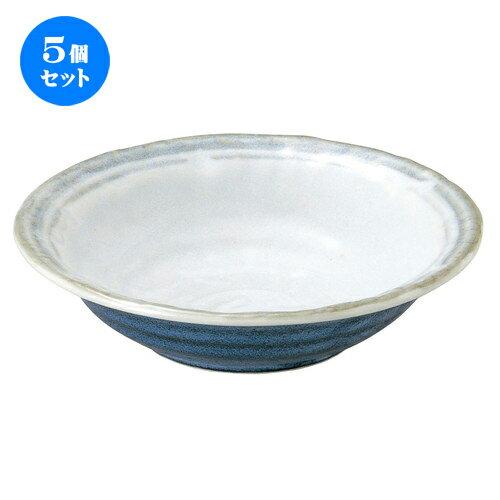 5個セット☆ 中鉢 ☆ 雪宵 石目6.0鉢 [ D-19.4 H-4.9cm ]