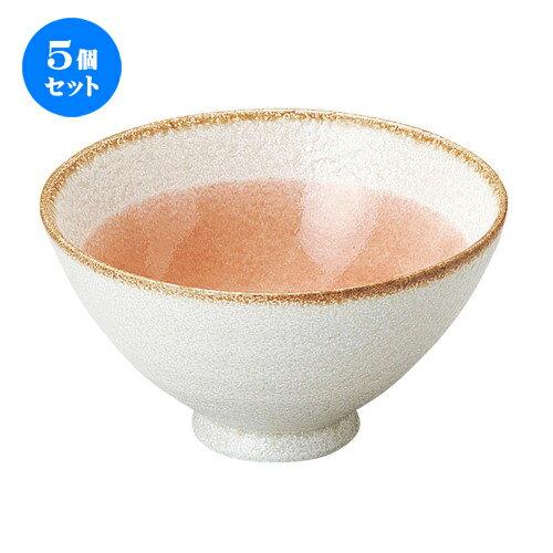 5個セット☆ 茶碗 ☆ ローゼ 飯碗 [ D-12 H-6.5cm C-320cc ]
