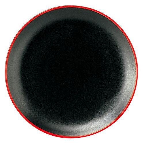 10個セット ☆ 中皿 ☆ 彩火 6メタ玉皿 [ D-15.5 H-1.8cm ] 【 中華食器 アジア料理 レストラン ホテル カフェ 飲食店 業務用 黒 ブラック 赤縁 】