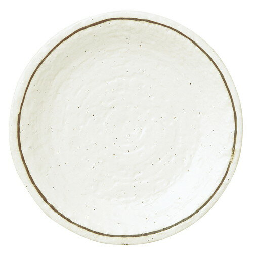 5個セット☆ 大皿 ☆ 粉引ライン 石目8.0皿 [ D-25.5 H-3.5cm ]