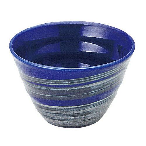 5個セット☆ 茶碗 ☆ 銀彩ブルー リップル碗 小 [ D-11 H-7.3cm C-310cc ]